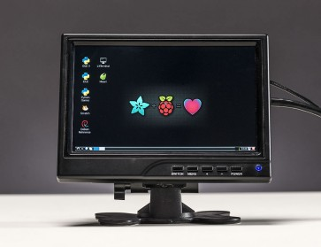 "HDMI/VGA/NTSC/PAL Display - 7"" Diagonal - 1280x800 IPS"