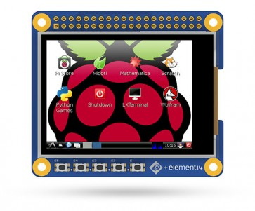 2.4 Zoll HAT Display für Raspberry Pi