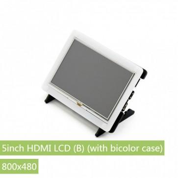 Waveshare Display 7inch HDMI LCD (B) mit zweifarbigem Gehäuse, 800x480