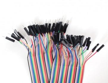 Kabel Set male/female (ca. 40 Stück)