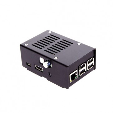 Metallgehäuse für Hifiberry DIGI+ für Pi B+, Pi 2 und Pi 3 - schwarz