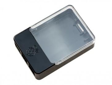 Gehäuse für Raspberry Pi mit Erweiterung/HAT - schwarz/transparent