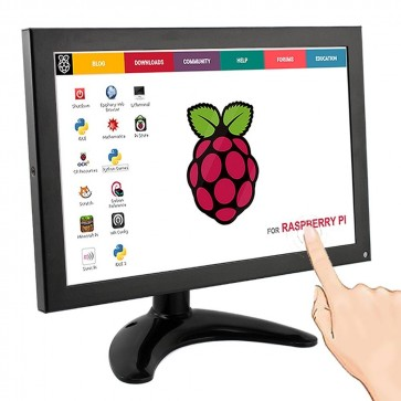 10.1 Inch Metal Shell IPS TFT Portable Monitor with Touch Function for Raspberry Pi All-In-One PC