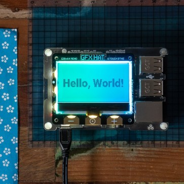 GFX HAT - 128x64 LCD Display mit RGB Backlight und Touch Buttons