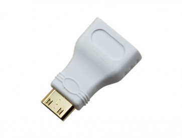 Pi Zero HDMI Adaptor White (Mini HDMI to HDMI)