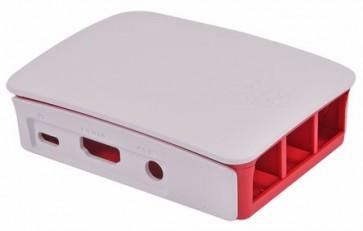 Offizielles Gehäuse der Raspberry Pi Foundation für Pi 2/3 - weiss/rot