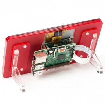 """Raspberry Pi 7"""" Touchscreen Display Frame - Red (rot)"""
