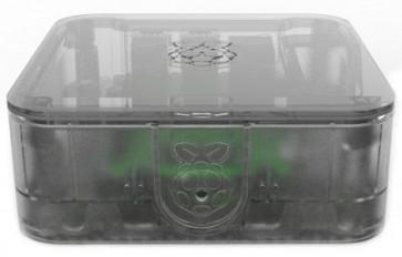 Mini-PC Gehäuse transparent - Quattro (für Raspberry mit SSD/HDD)