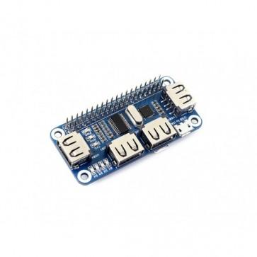 4 Port USB HUB HAT für Raspberry Pi Zero / Zero W