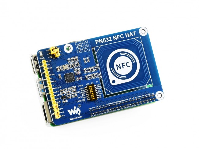 Raspberry Pi NFC HAT PN532 NFC HAT Supports Three Communication interfaces: I2C//SPI//UART Widely Used in Access Control System Meal Card Smart Tickets etc.