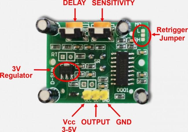 PIR Infrared Motion Sensor (HC-SR501)