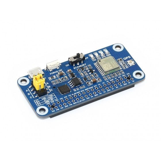 L76X Multi-GNSS HAT for Raspberry Pi, GPS, BDS, QZSS
