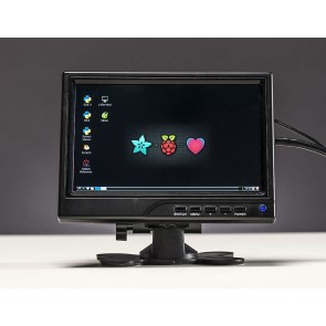 "HDMI/VGA/NTSC/PAL Display - 7"" Diagonal - 1280x800 IPS"