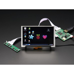 "HDMI 4 Pi: 5"" Display mit Touch und Mini Driver - 800x480 HDMI"