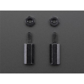 Brass M2.5 Standoffs für Pi HATs - Black Plated (11mm) - 2er Pack