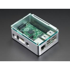 Edles Alugehäuse für Raspberry Pi B+, Pi 2 und Pi 3 - silber (anidees)