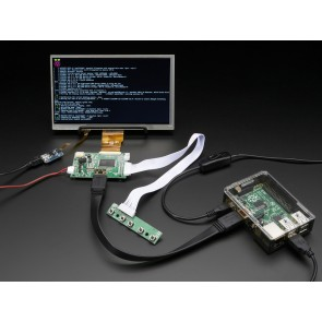 "HDMI 4 Pi: 7"" Display mit Touchscreen 1024x600 mit Mini Driver"