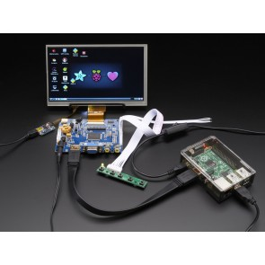 "HDMI 4 Pi: 7"" Display & Audio 1024x600 mit Touchscreen"