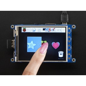 "PiTFT Plus 320x240 3.2"" TFT + Resistive Touchscreen - Pi 2 und Model A+ / B+"