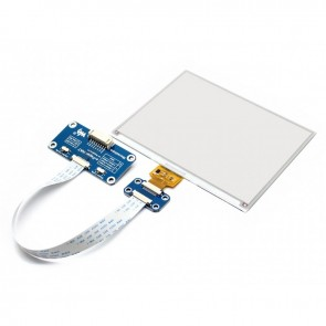 5.83inch E-Ink display HAT (600x448), red/black/white three-color