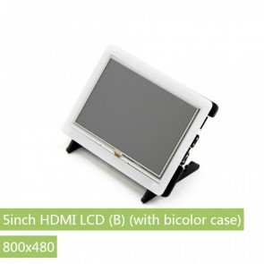 Waveshare Display 5inch HDMI LCD (B) + Bicolor case (800x480)