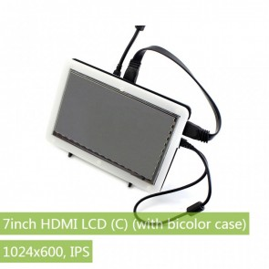 Waveshare Display 7inch HDMI LCD (C) + Bicolor case, 1024x600
