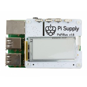 Raspberry Pi PaPiRus HAT Medium  (2.0 Zoll) - ePaper Display