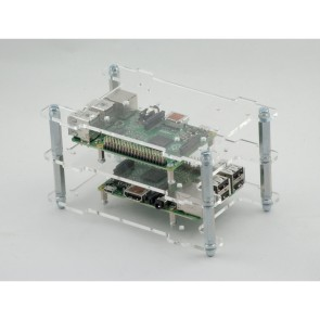 Multi-Pi Stackable Raspberry Pi Case