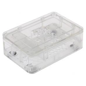 ABS Mini PC Gehäuse, transparent für Raspberry Pi 2 und Pi 3 B/B+