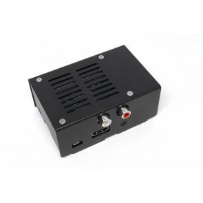 Metallgehäuse für Hifiberry DAC+ RCA für Pi B+, Pi 2 und Pi 3 - schwarz