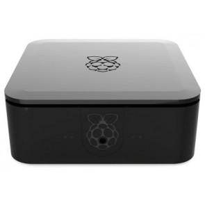 Mini-PC Gehäuse schwarz - Quattro (für Raspberry mit SSD/HDD)