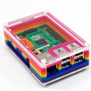 Pibow Rainbow für RPi B+ und Pi 2/3/3+