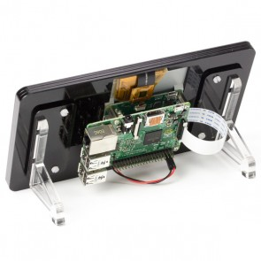 "Raspberry Pi 7"" Touchscreen Display Frame - Noir (Schwarz)"